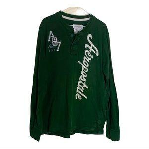 Aeropostale dark green long sleeve shirt